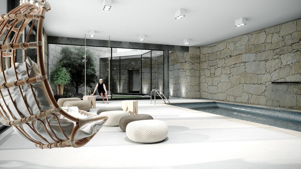 Piscine intérieur – Logements Lodges Minho – Porto – Portugal